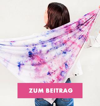 Tuch im Batik Style färben