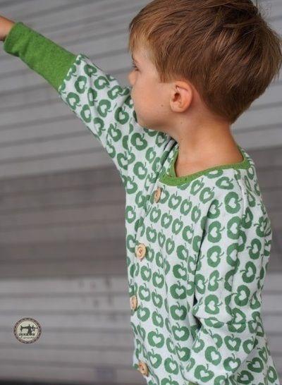 Lillestoff Bio-Jersey Apple Liefde grün - 160 cm kaufen im Makerist Materialshop