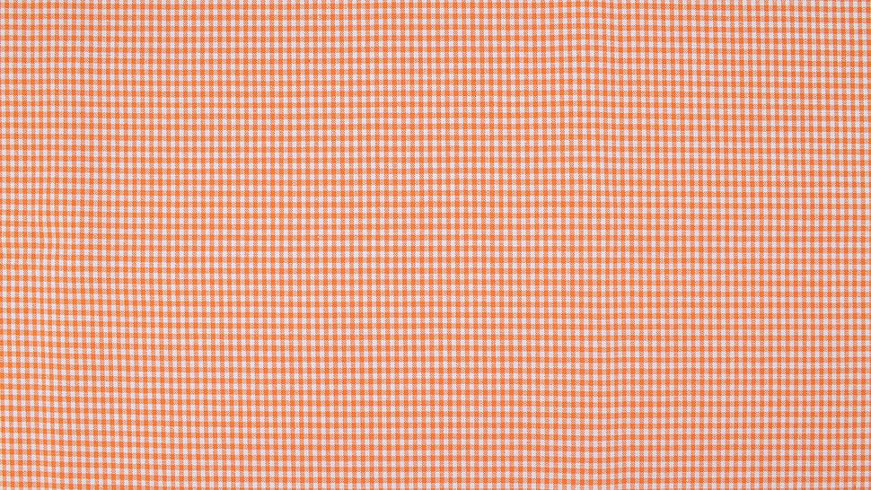 Baumwollstoff orange kariert: Vichy - 140 cm im Makerist Materialshop - Bild 2