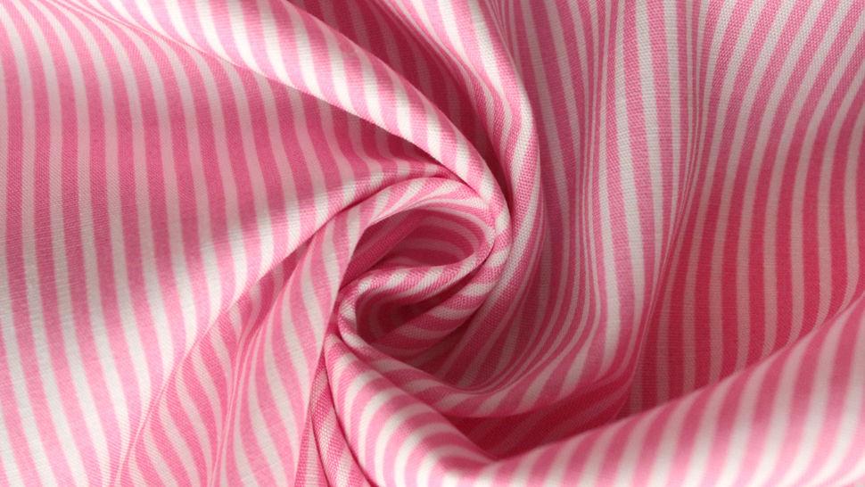 Rosa-weiß bedruckter Baumwollstoff: Stripes - 150 cm im Makerist Materialshop - Bild 2