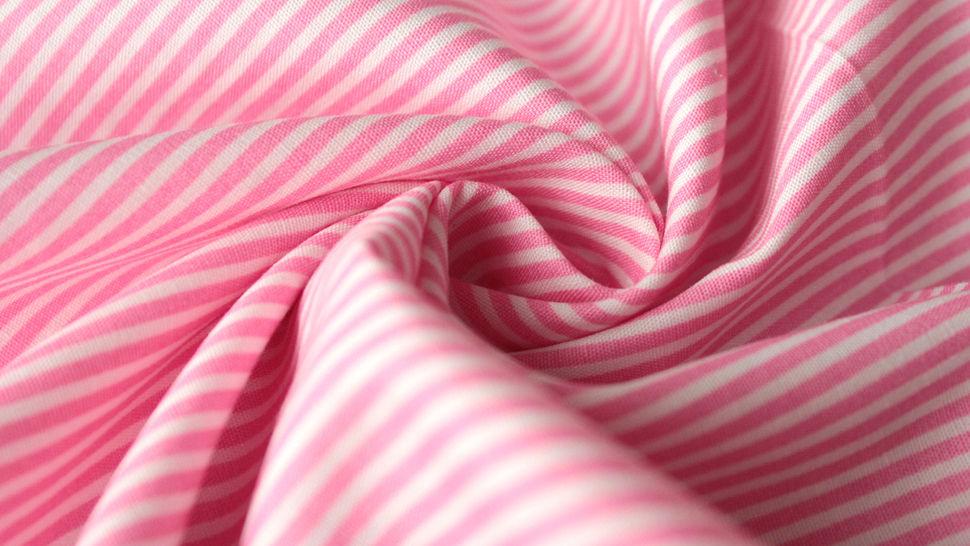 Rosa-weiß bedruckter Baumwollstoff: Stripes - 150 cm im Makerist Materialshop - Bild 3
