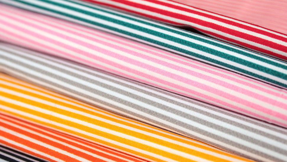 Rosa-weiß bedruckter Baumwollstoff: Stripes - 150 cm im Makerist Materialshop - Bild 4