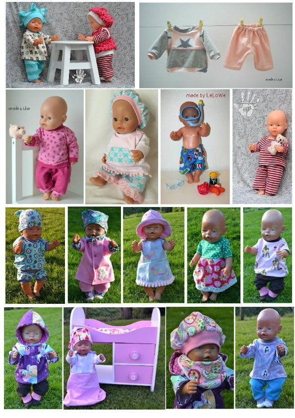 37 Schnittmuster Gr: 43cm Puppen - Puppenkleidung