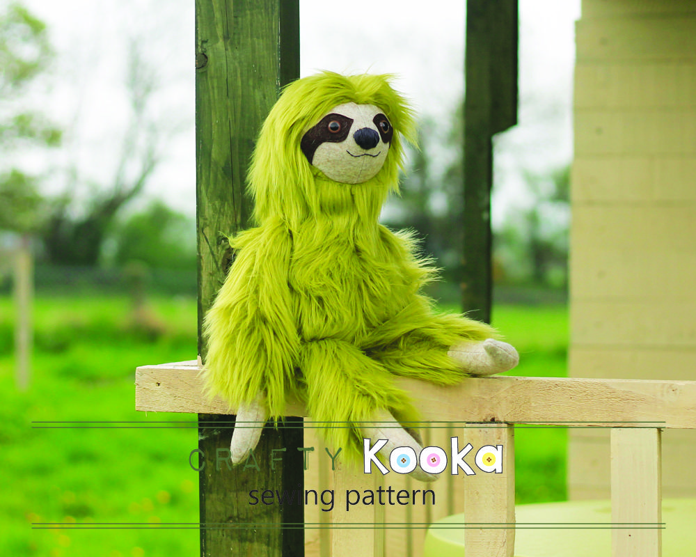 Stuffed toy sewing pattern sloth toy pattern pdf sewing download stuffed toy sewing pattern sloth toy pattern pdf sewing pattern tutorial sewing jeuxipadfo Gallery