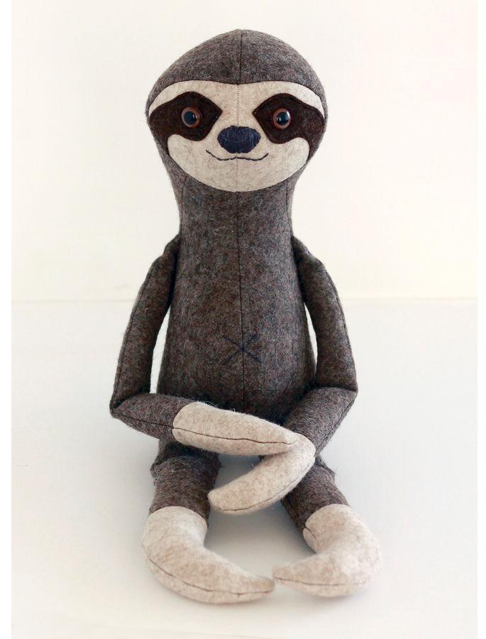 Stuffed toy sewing pattern - Sloth toy pattern - pdf sewing pattern ...
