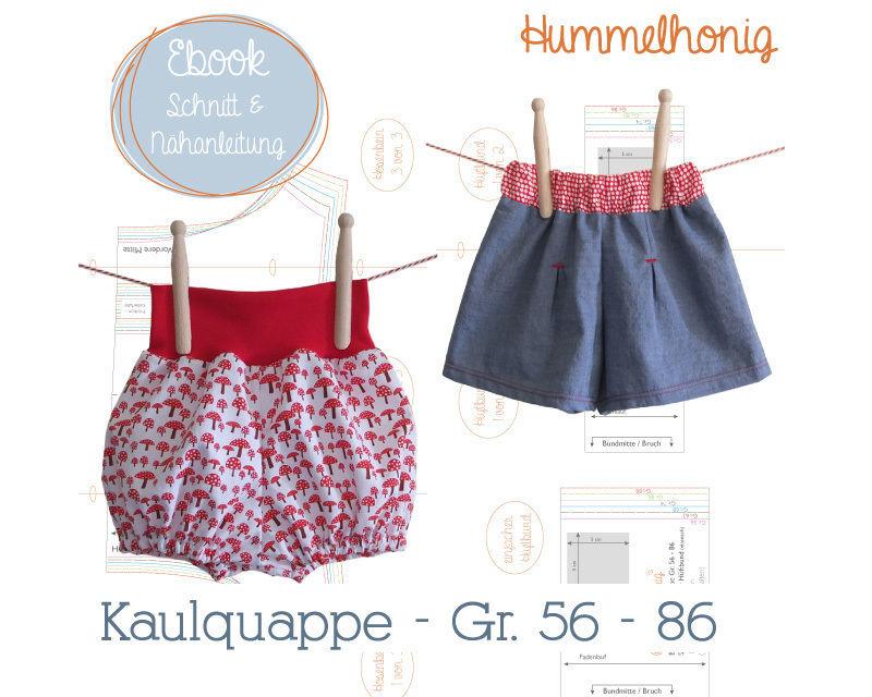 Baby Shorts (Gr. 56 - 86) Nähanleitung und Schnittmuster