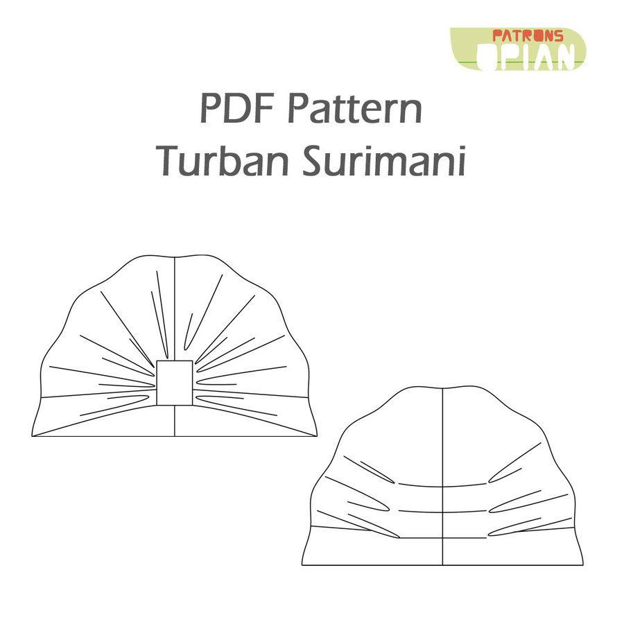Surimani turban sewing pattern and instructions download surimani turban sewing pattern and instructions sewing patterns immediately at makerist baditri Images