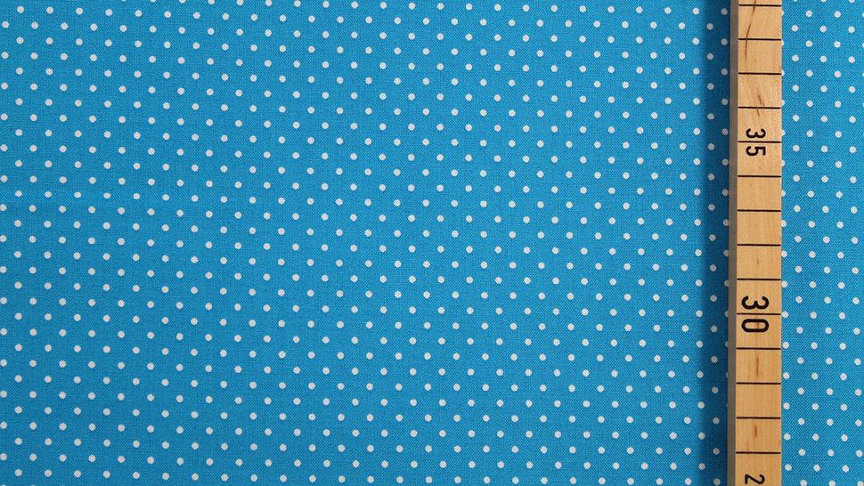 Baumwollstoff Polka Dot türkis: Judith - 148 cm im Makerist Materialshop - Bild 2