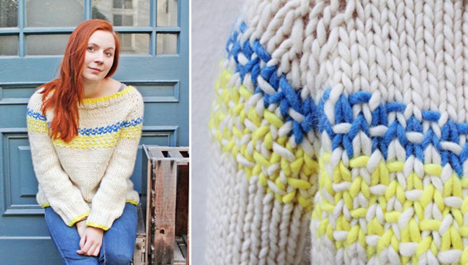 Raglan von oben Pullover stricken mit dem makerist Video-Kurs