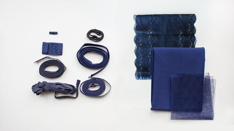 Blaue Spitzen-BH Komplettbox: Julie kaufen im Makerist Materialshop
