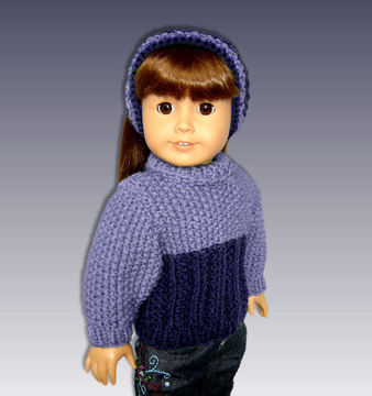 Download  Seed Stitch Doll Sweater. Fits 18 inch dolls. - Knitting Patterns immediately at Makerist