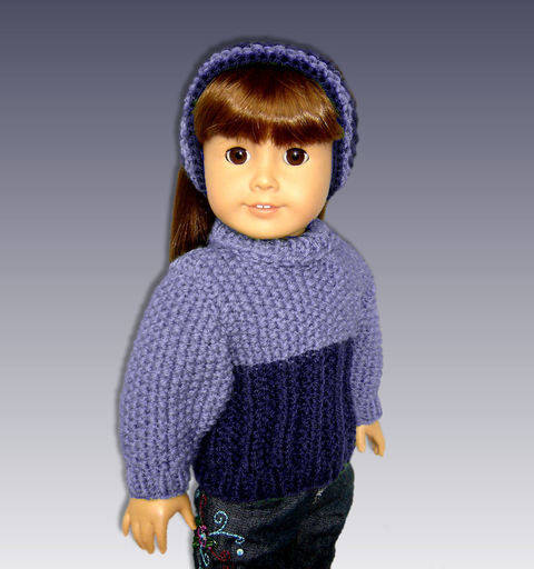 Download  Seed Stitch Doll Sweater. Fits 18 inch dolls. immediately at Makerist