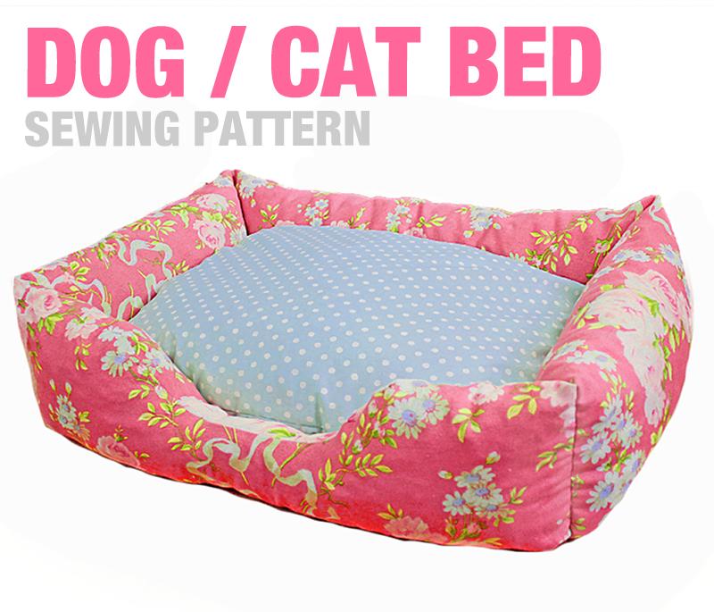 Sewing Pattern - Dog / Cat / Pet Bed - 3 Sizes - English Version