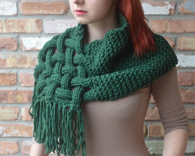 Download Knit woven scarf - Detailed knitting pattern - Knitting Patterns immediately at Makerist