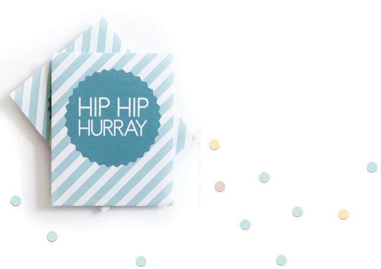 """Konfettitütchen """"Hip Hip Hurray"""" pdf zum Selberdrucken für Hochzeiten, Taufen und andere Feiern - Bastelanleitungen bei Makerist sofort runterladen"""