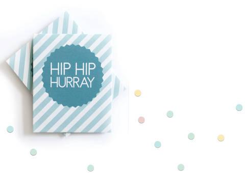 """Konfettitütchen """"Hip Hip Hurray"""" pdf zum Selberdrucken für Hochzeiten, Taufen und andere Feiern bei Makerist sofort runterladen"""