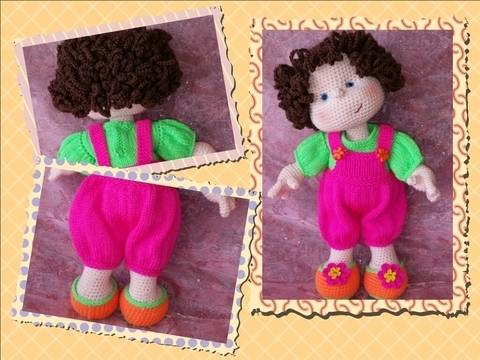 Download Matilda Dolly - Basic doll with knitted clothes immediately at Makerist
