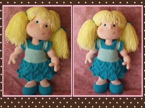 Download Matilda Dolly - Pattern for wig and clothes only - Knitting Patterns immediately at Makerist