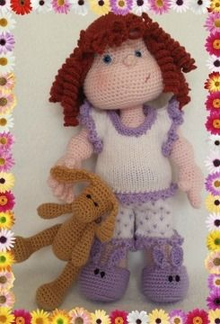 Download Matilda Dolly - Pattern for wig, pyjamas and bunny - Knitting Patterns immediately at Makerist
