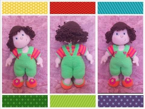 Download Matilda Dolly - Basic doll with CROCHETED clothes immediately at Makerist