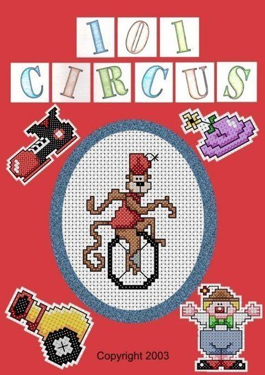 Download 101 Circus Cross Stitch Motifs - Embroidery Patterns immediately at Makerist