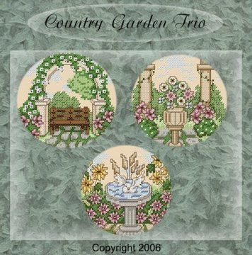 Download Country Gardens in cross stitch - Embroidery Patterns immediately at Makerist