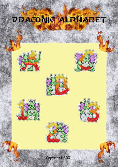 Download Draconic Alphabet in cross stitch immediately at Makerist