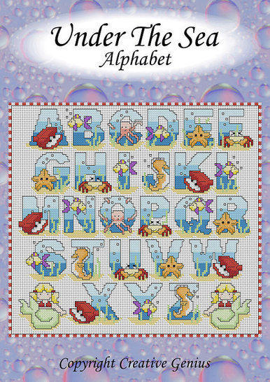 Download Under The Sea cross stitch alphabet - Embroidery Patterns immediately at Makerist