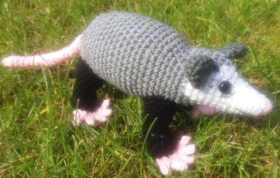 Download Opossum Crochet Pattern - Crochet Patterns immediately at Makerist