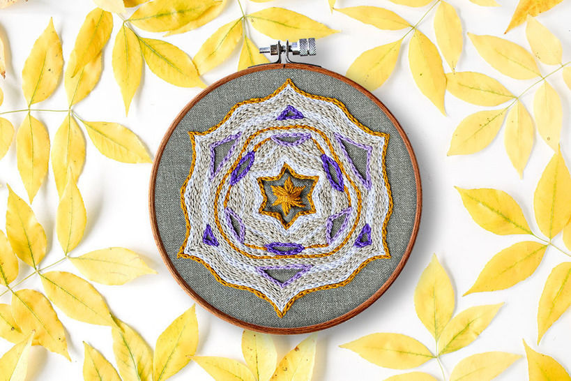 Sternen Mandala - Stickmuster bei Makerist sofort runterladen