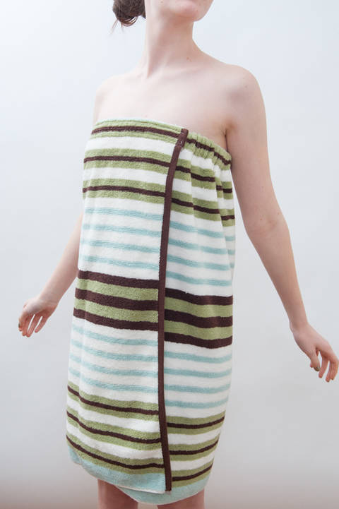 Download Spa Towel Wrap - Bath & Beach Cover up - PDF Sewing Pattern immediately at Makerist