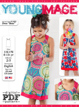 Download Dress BEAU PDF Pattern + Tutorial - Sewing Patterns immediately at Makerist