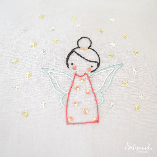 Download Little Fairy, hand embroidery PDF pattern & instructions - Embroidery Patterns immediately at Makerist