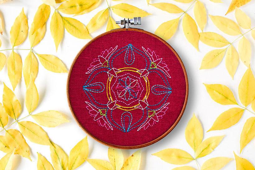Lotus Mandala - Stickmuster bei Makerist sofort runterladen