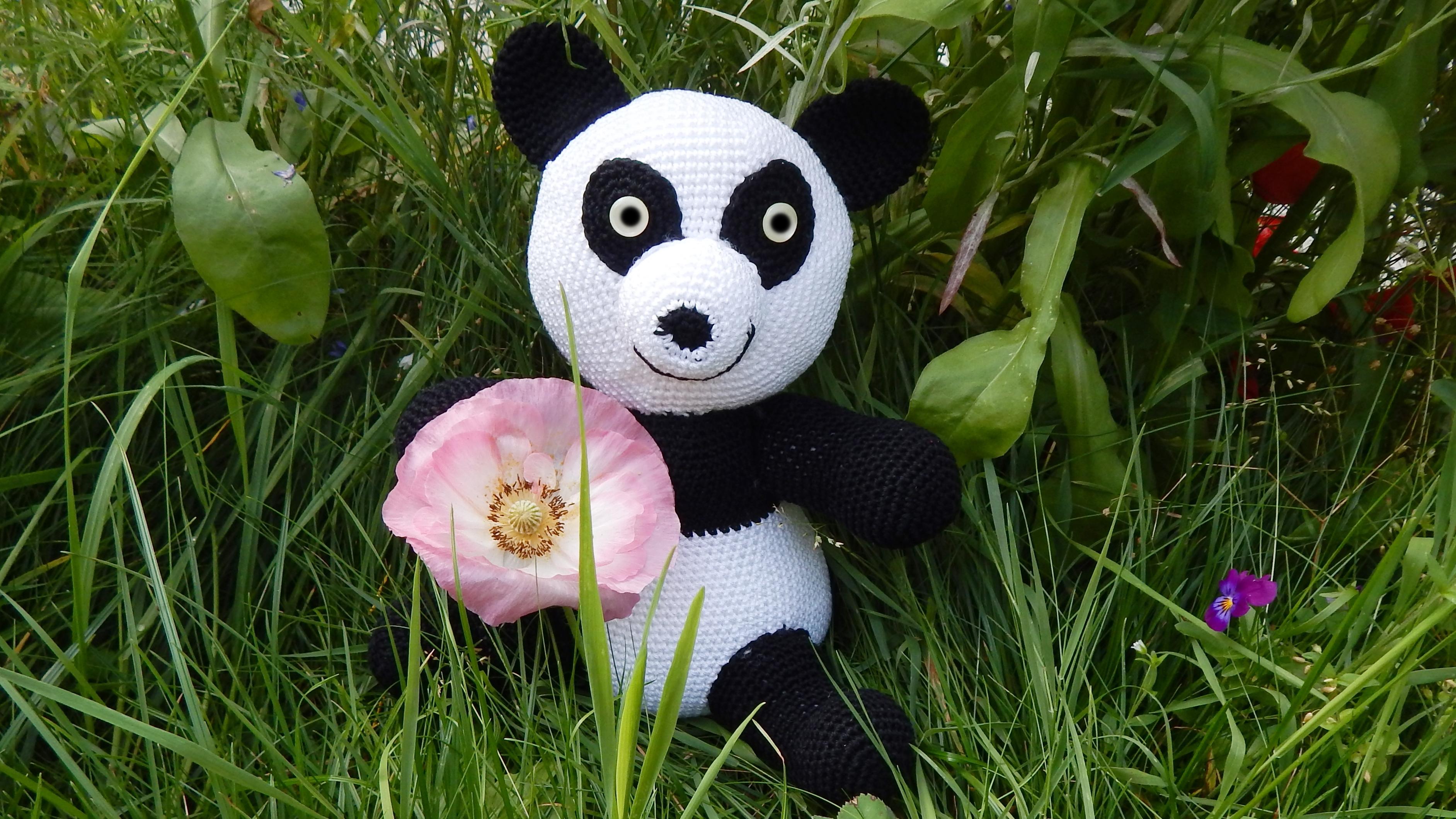 Häkelanleitung Panda Bär