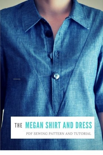 Download Megan Shirt:  PDF sewing pattern for women, sizes available from 4 to 22 - Sewing Patterns immediately at Makerist