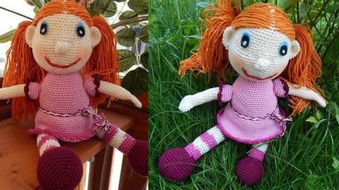 Häkelanleitung Puppe Klementine bei Makerist sofort runterladen