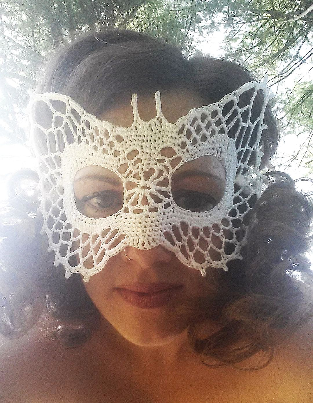 Butterfly Lace Masquerade Mask Dress Up Or Photo Prop Crochet