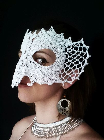 Download Royal Elephant Lace Masquerade Mask (dress up or photo prop)- crochet pattern - Crochet Patterns immediately at Makerist