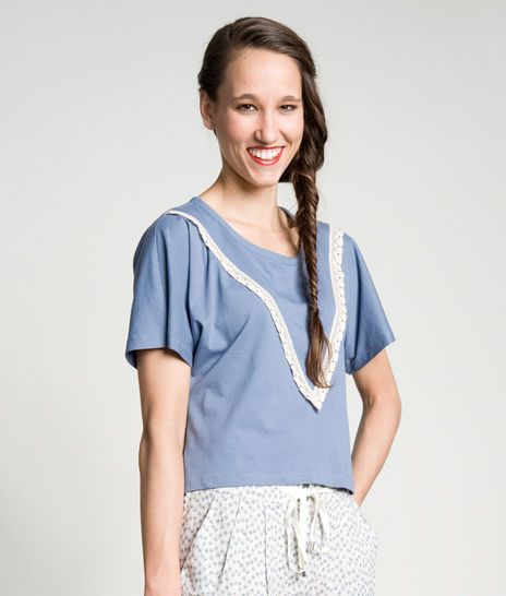 Schnittmuster und Nähanleitung Shirt Katja - Nähanleitungen bei Makerist sofort runterladen