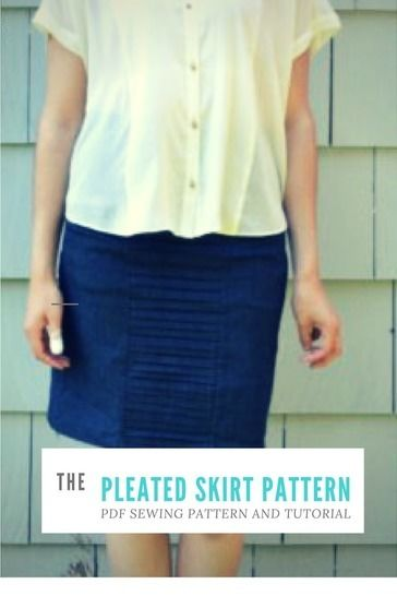 Download Pleated Skirt Pattern - Sewing Patterns immediately at Makerist