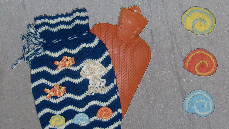 Wärmflaschen Bezug – Hülle am Meer, eine Häkelanleitung von DaDaDe - Häkelanleitungen bei Makerist sofort runterladen