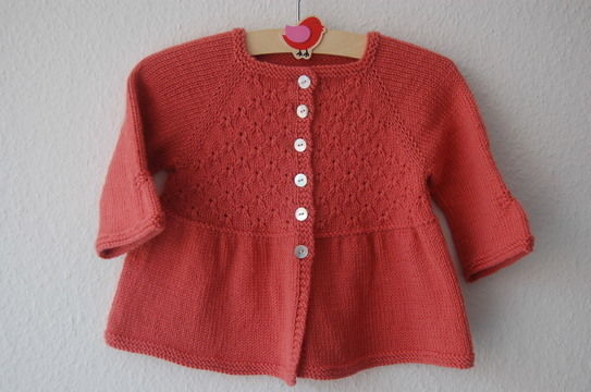 Download Alouette girl lace cardigan - knitting pattern - Knitting Patterns immediately at Makerist
