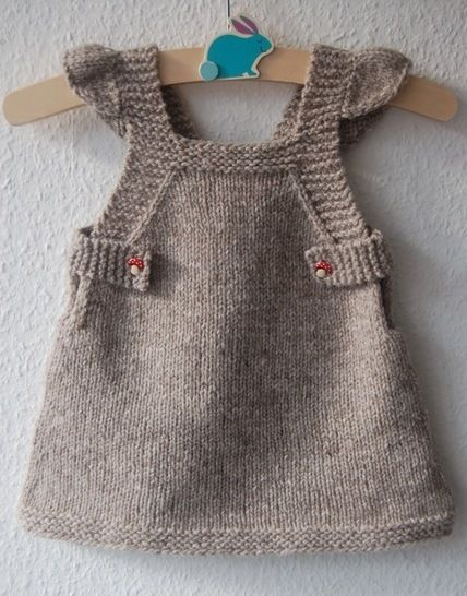 Summer Into Fall Pinafore Dress Knitting Pattern