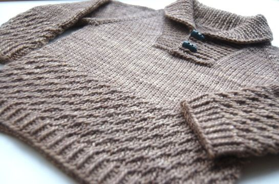 Download Boy sweater with shawl collar - knitting pattern - Knitting Patterns immediately at Makerist