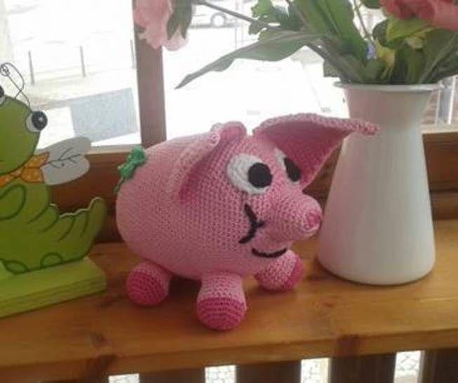 Häkelanleitung Glücksschwein Berta - Häkelanleitungen bei Makerist sofort runterladen