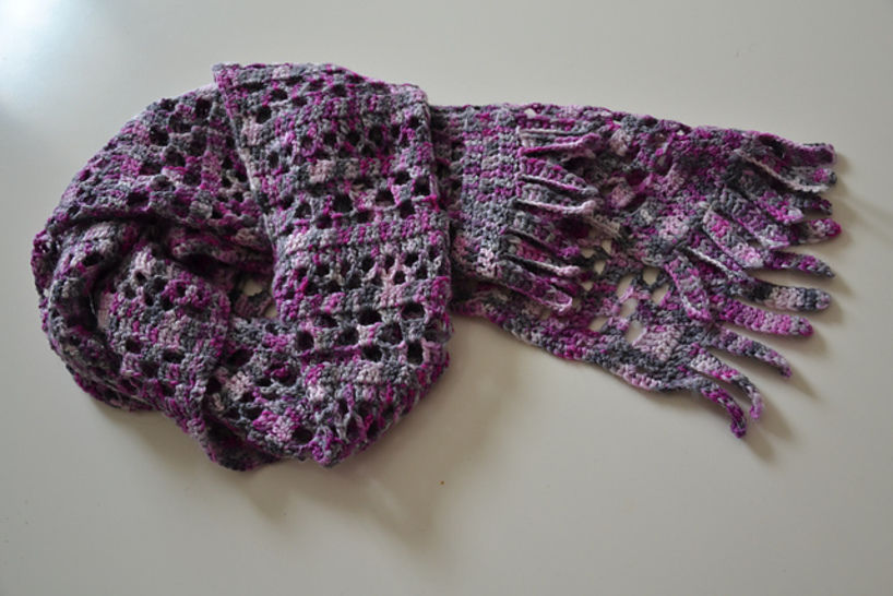 Download Orchid Jam Scarf - Crochet Patterns immediately at Makerist