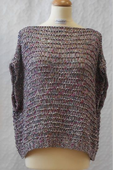 Year Round Oversized Summer Tee Shirt And Sweater Knitting Pattern