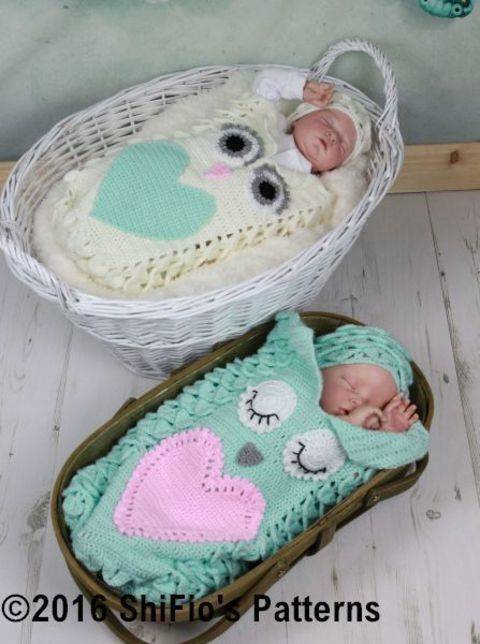 Download CP341 Croc St Owl Cocoon Baby Crochet Pattern #341 immediately at Makerist