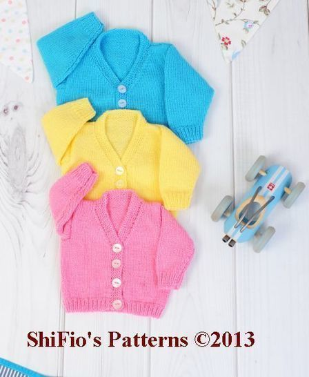 Download KP251 V Neck Cardigans Baby Knitting Pattern #251 - Knitting Patterns immediately at Makerist